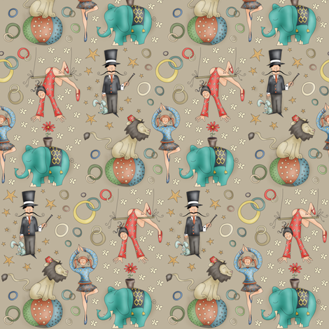 Fun Circus! fabric by catru on Spoonflower - custom fabric
