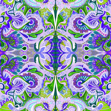 When Paisley Dream fabric by edsel2084 on Spoonflower - custom fabric