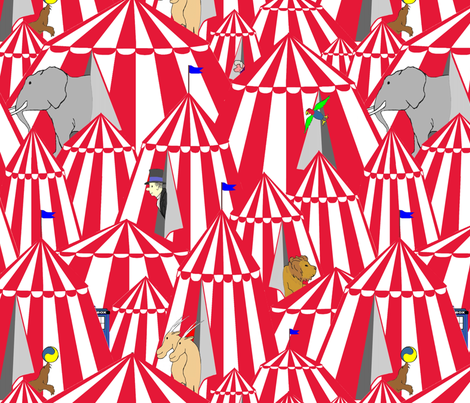 The Doctor's Circus fabric by veritybrown on Spoonflower - custom fabric