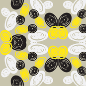 Spiral Butterfly in Black and Yellow