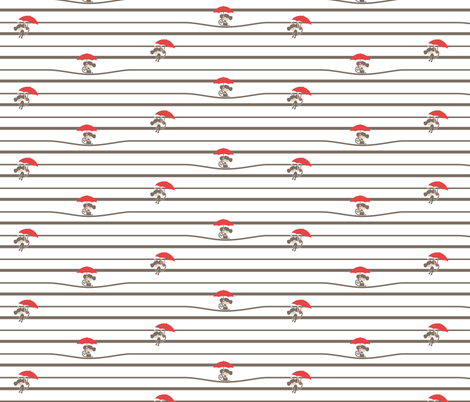 Circus Tower - Monkey Stripe fabric by ttoz on Spoonflower - custom fabric
