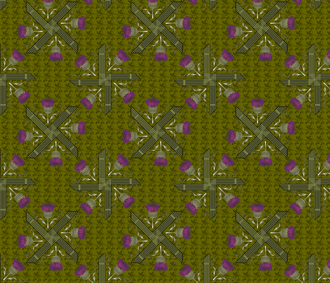 ©2011 St Brigid's Cross and Thistle fabric by glimmericks on Spoonflower - custom fabric