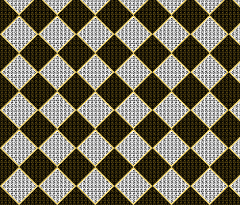 ©2011 argylevines black white gold fabric by glimmericks on Spoonflower - custom fabric
