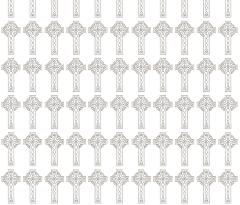 celtic cross fabric by barakatblessings on Spoonflower - custom fabric