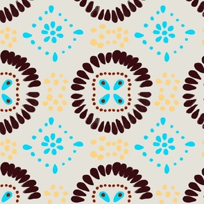 Mexican Tiles Print in White