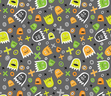 Ghost Face fabric by mondaland on Spoonflower - custom fabric