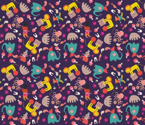 tissu_louise_cirque fabric by mariebuf on Spoonflower - custom fabric
