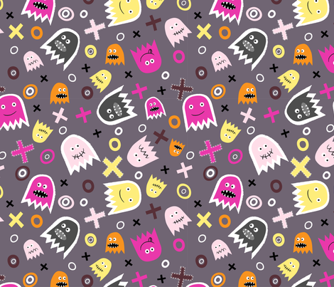 Ghost Face (2) fabric by mondaland on Spoonflower - custom fabric