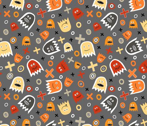 Ghost Face (3) fabric by mondaland on Spoonflower - custom fabric