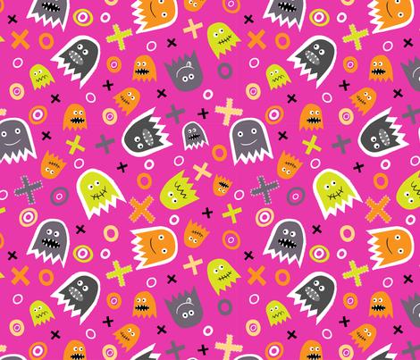 Ghost Face (6) fabric by mondaland on Spoonflower - custom fabric