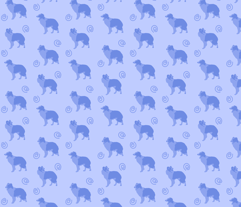Border Collies make me laugh - blue fabric by rusticcorgi on Spoonflower - custom fabric