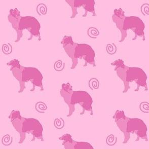 Border Collies make me laugh - pink