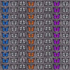 Monarch Butterflies on Gray Granite pattern