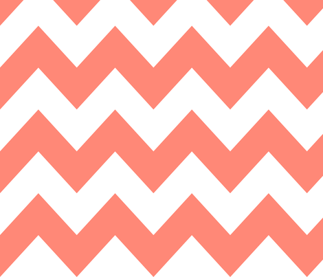 Coral Chevron fabric by newmomdesigns on Spoonflower - custom fabric