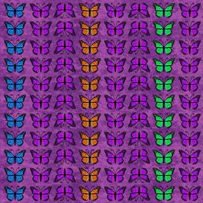 Monarch Butterflies on Purple Granite Pattern
