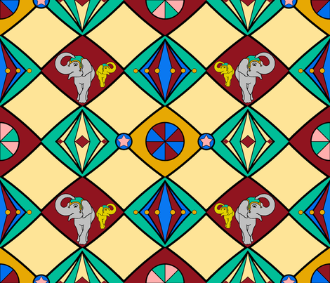 Circus fabric by adranre on Spoonflower - custom fabric