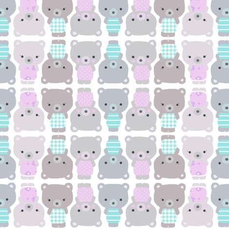 Teddy bears fabric by katarina on Spoonflower - custom fabric