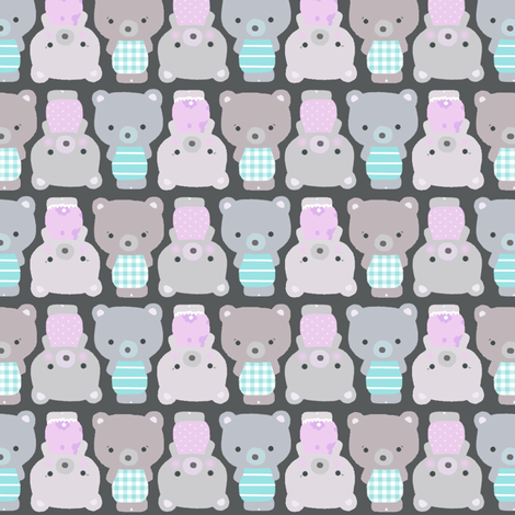 Teddy bears fabric by katarina on Spoonflower - custom fabric