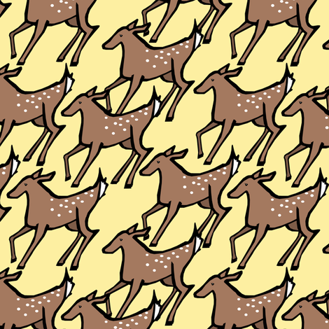Sunny Deer Print fabric by pond_ripple on Spoonflower - custom fabric