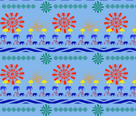 Circus Whirl fabric by scifiwritir on Spoonflower - custom fabric