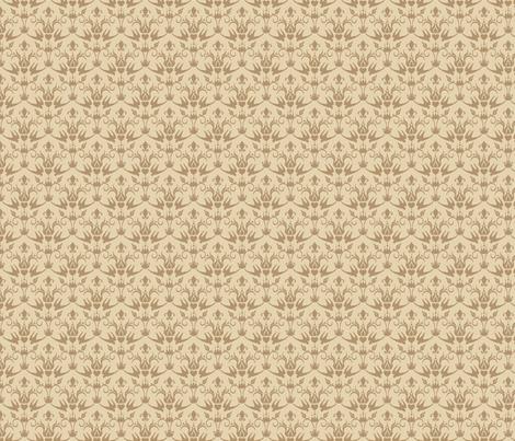 elegant bird damask fabric by eoskoch on Spoonflower - custom fabric