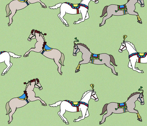Circus ponies fabric by victorialasher on Spoonflower - custom fabric