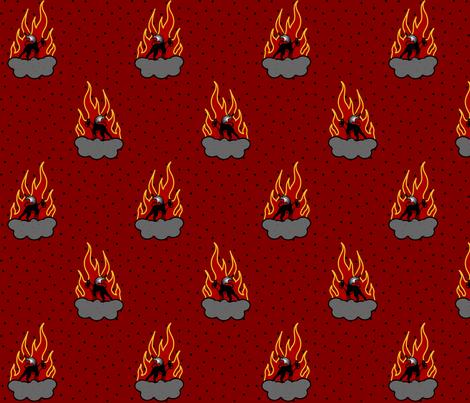 Devil dogs fabric by missyq on Spoonflower - custom fabric