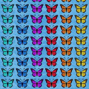 Butterfly Rainbows on Blue Sky Granite
