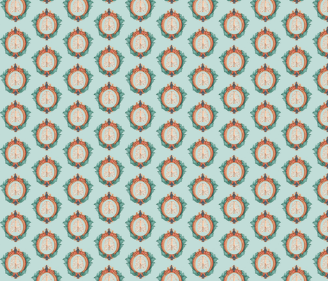 small ribcage crest fabric by mome_rath_garden on Spoonflower - custom fabric