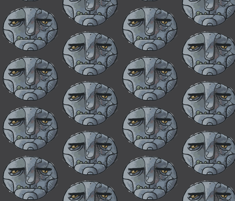 golemHead-ch fabric by buffy_sunders on Spoonflower - custom fabric