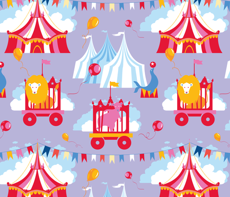Circus_4 fabric by dzynchik on Spoonflower - custom fabric