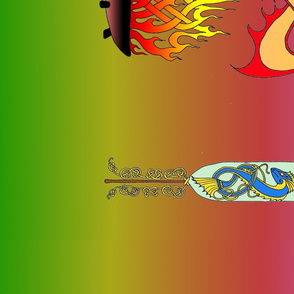 2 Pegasus Zen Dragon Banner
