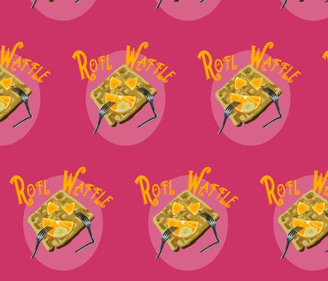 ROFL Waffle Panel - Pink fabric by terridee on Spoonflower - custom fabric