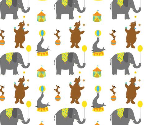 Circus Animals fabric by jenimp on Spoonflower - custom fabric