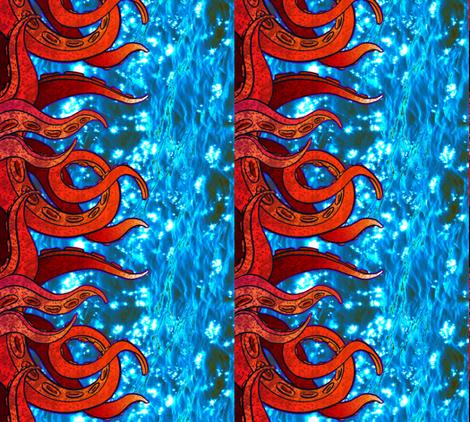 Tentacle Border 2 fabric by jadegordon on Spoonflower - custom fabric