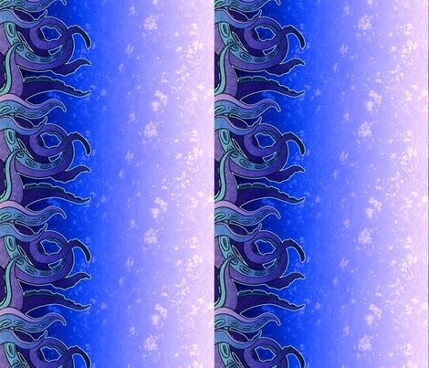 Tentacle Border 1 fabric by jadegordon on Spoonflower - custom fabric