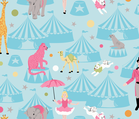 circus fabric by minimiel on Spoonflower - custom fabric