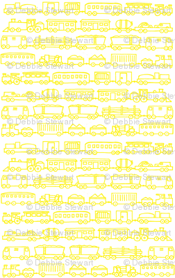 yellow trains