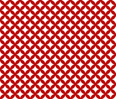 Tessellate - red fabric by littlemissquarter on Spoonflower - custom fabric