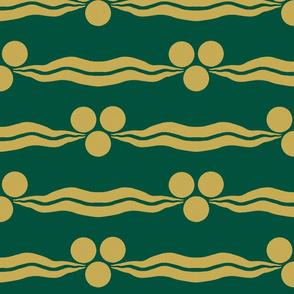 Ottoman Cintamani-Green and Gold
