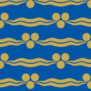 Ottoman Cintamani-Blue and Gold