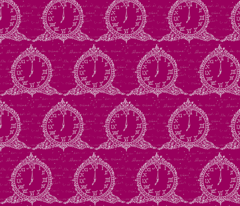 Time for Tea in Raspberry fabric by fionas on Spoonflower - custom fabric