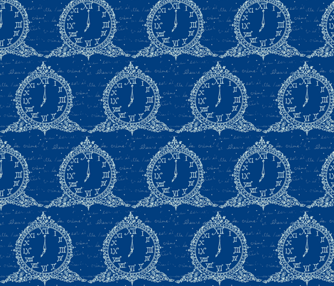 Time for Tea in Blueberry fabric by fionas on Spoonflower - custom fabric