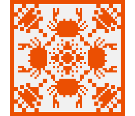 8 Bit Crab - Hawaiian Style Cheater Quilt fabric by jesseesuem on Spoonflower - custom fabric