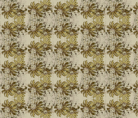 Clockwork Hybrid Flowers fabric by donna_kallner on Spoonflower - custom fabric