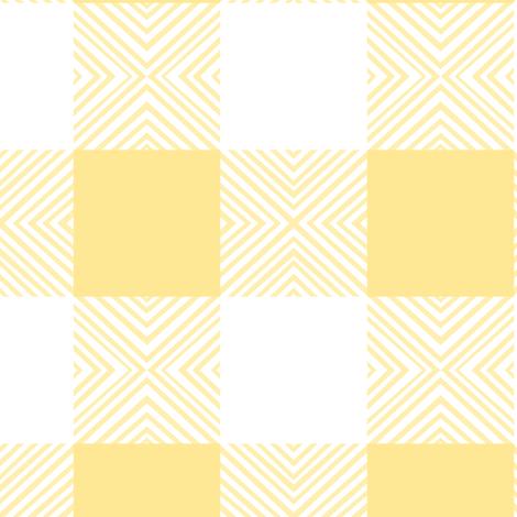 Yellow X Plaid fabric by pond_ripple on Spoonflower - custom fabric