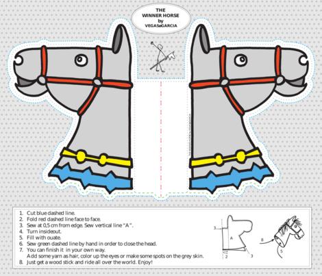 caballo_ganador fabric by vegasogarcia on Spoonflower - custom fabric