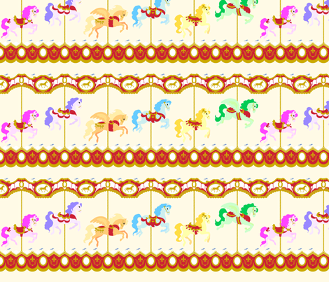 Classic Carousel fabric by tenderlovingclaire on Spoonflower - custom fabric