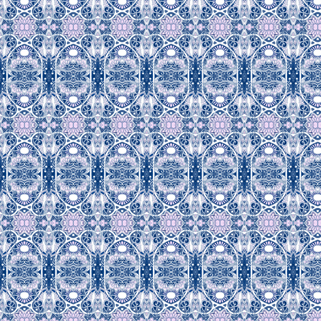 Midnight Seen Through My Window fabric by edsel2084 on Spoonflower - custom fabric