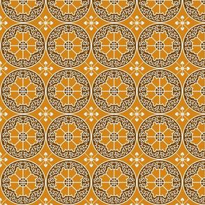 Egyptian Flowers-Orange
